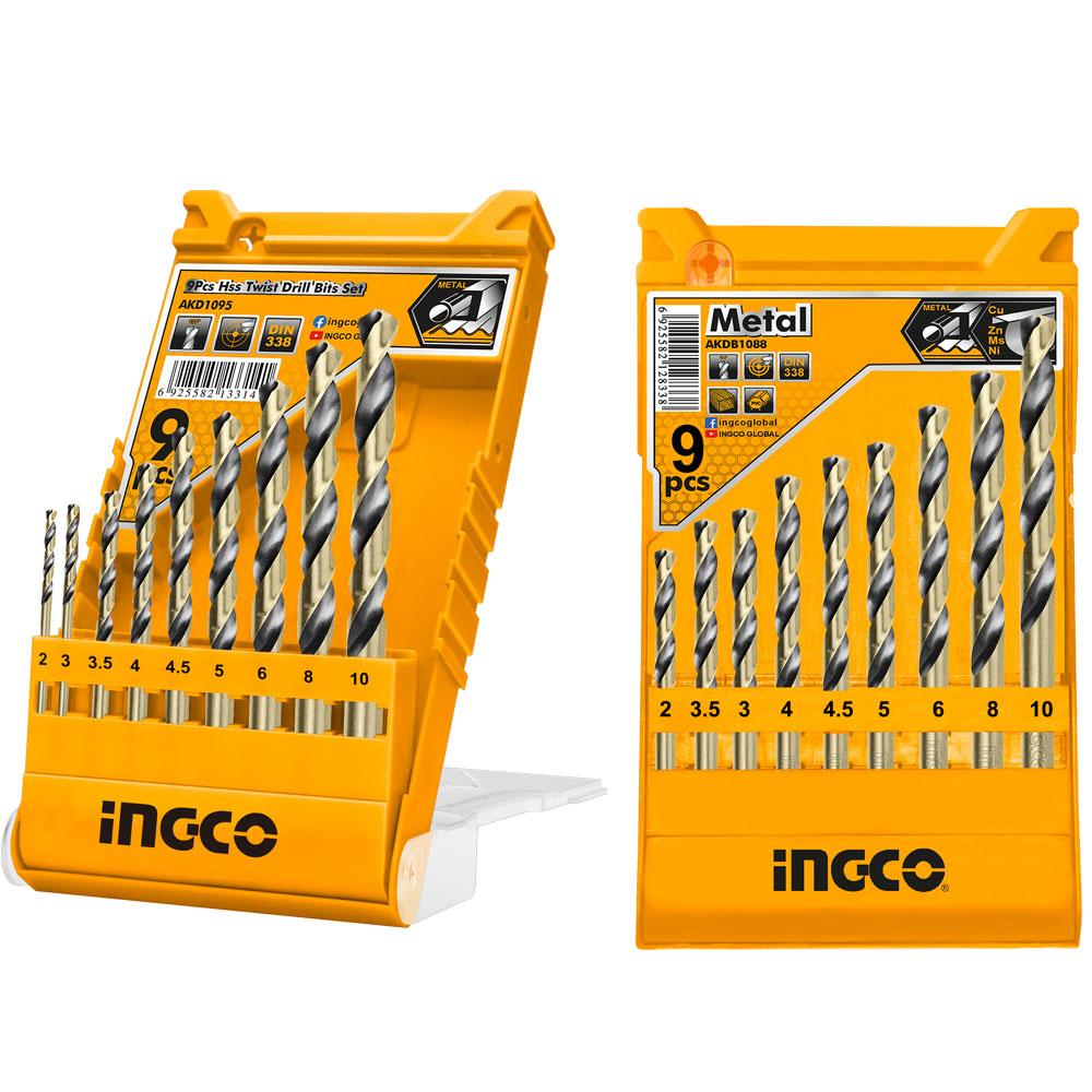 Купить Набір свердел по металу 9 шт. 2–10 мм,  INGCO