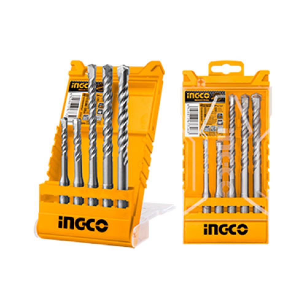 Купить Набір бурів по бетону SDS-plus 5 шт. 6–12 мм INGCO