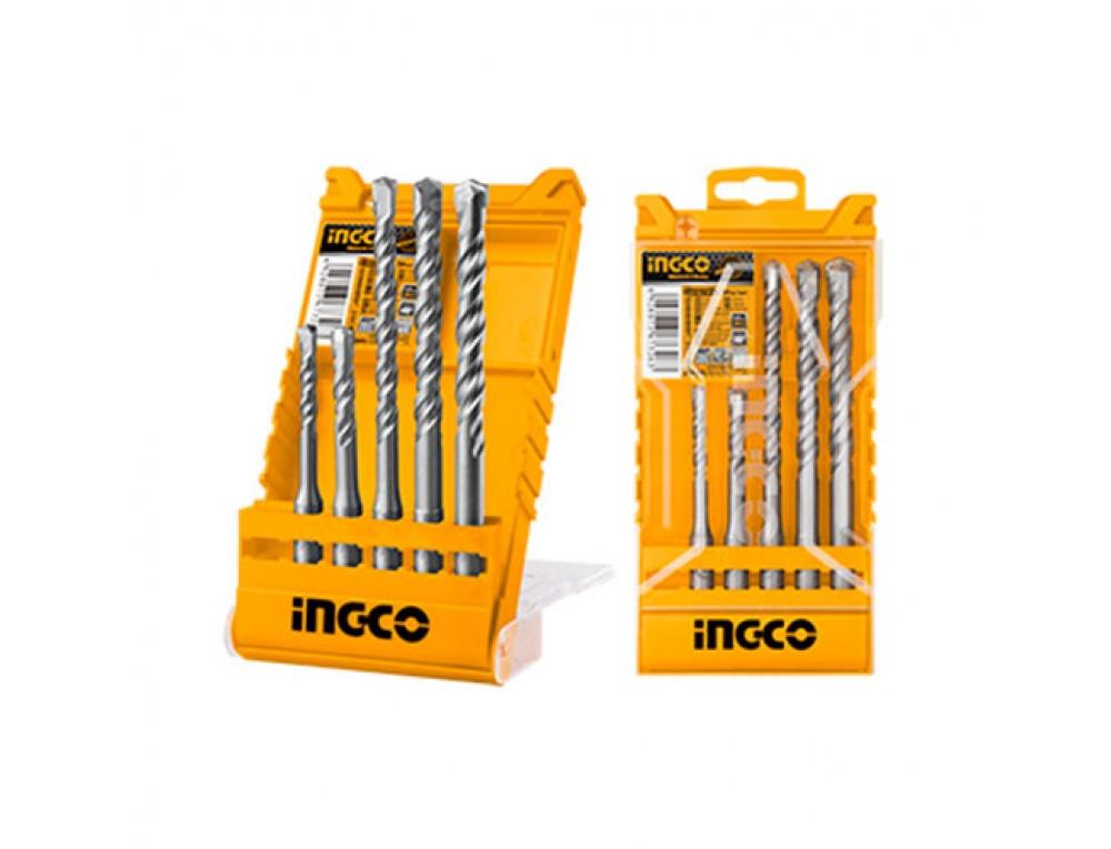 Набір бурів по бетону SDS-plus 5 шт. 6–12 мм INGCO