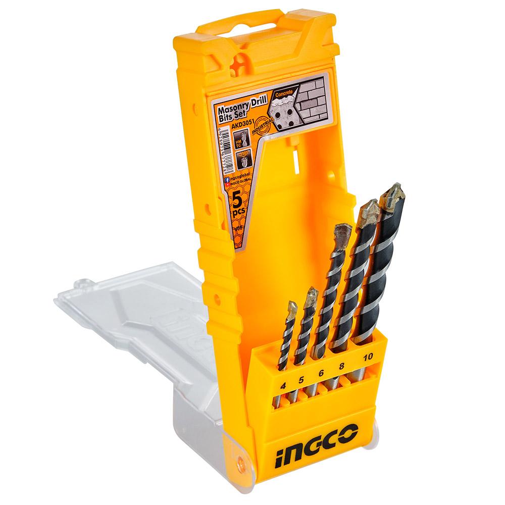 Купить Набір свердел по бетону 5 шт 4-10 мм INGCO