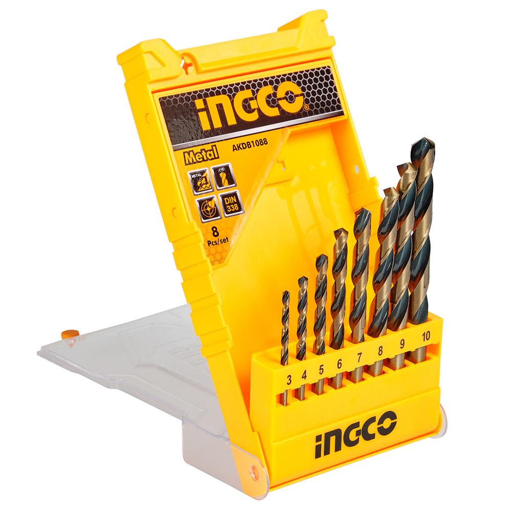 Купить Набір свердел по металу 8 шт. 3–10 мм INGCO