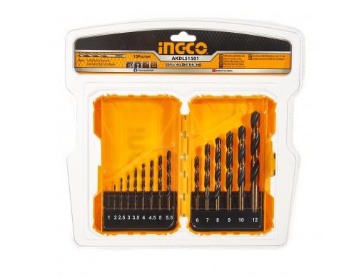 Набір свердел по металу 15 од. 1-12 мм INGCO
