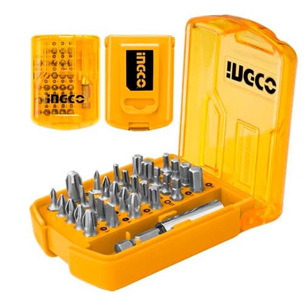 Купить Набір біт із тримачем 30 предметів INGCO