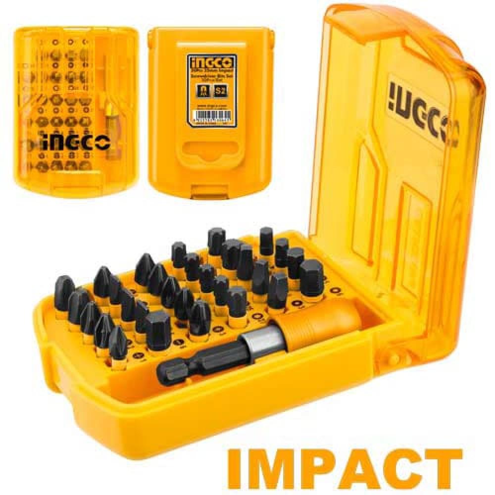 Купить Набір ударних біт 25 мм із тримачем 30 предметів INGCO