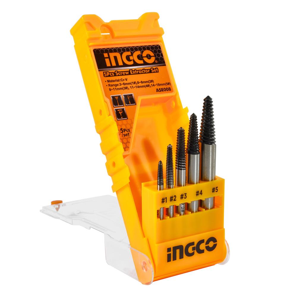 Купить Набір екстракторів 5 шт. INGCO