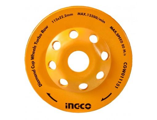 Диск Турбо шліфувальний чашковий 115 мм INGCO