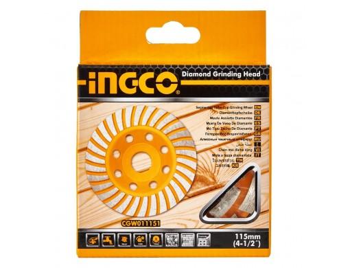 Диск шліфувальний дворядний алмазний чашковий 115 мм INGCO