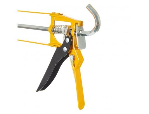 Пістолет для герметика 235 мм рамковий алюмінієвий INGCO