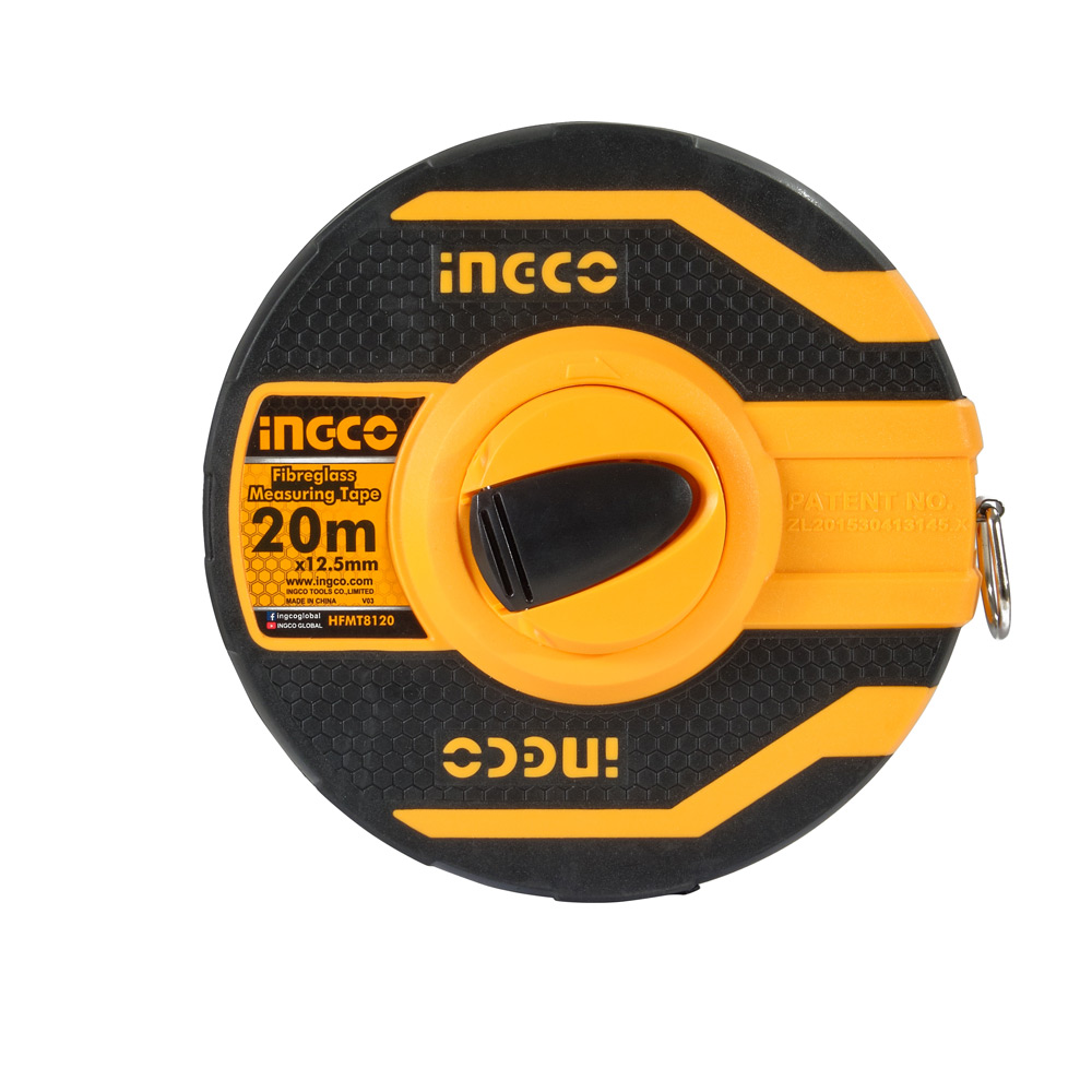 Купить Рулетка 20 м скловолокно 12,5 мм INGCO