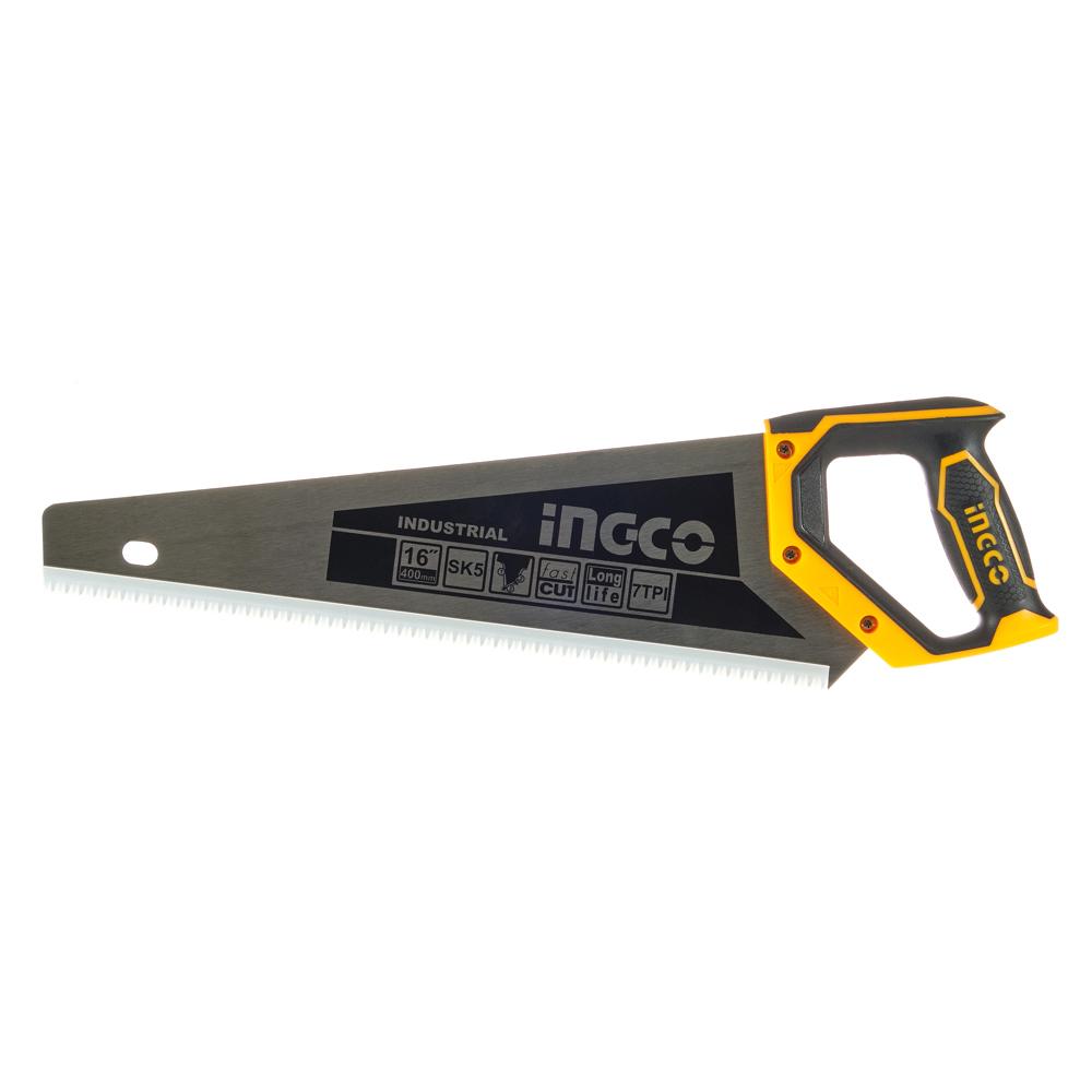 Купить Ножівка по дереву 400 мм 7 з/д сталь SK5 INGCO INDUSTRIAL