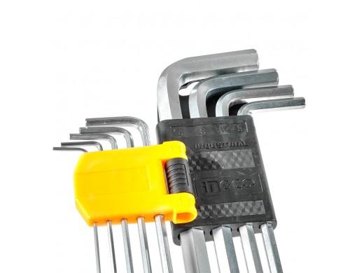 Набір шестигранних ключів 9 шт. 1,5–10 мм INGCO