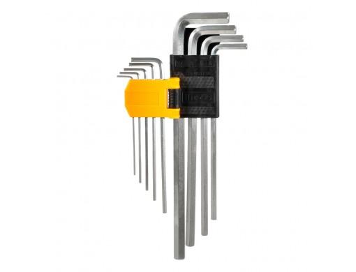Набір подовжених шестигранних ключів 9 шт. 1,5–10 мм INGCO