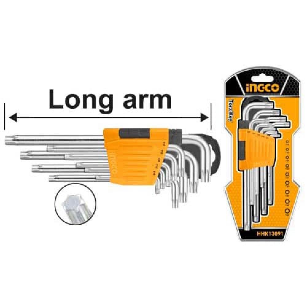 Купить Комплект ключів Torx 9 шт. Т10-Т50 INGCO