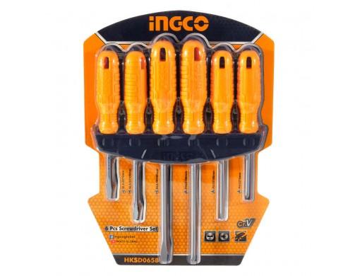 Набір викруток 6 шт. INGCO