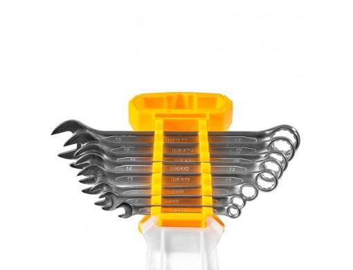 Комплект комбінованих гайкових ключів 6–19 мм 8 шт. INGCO INDUSTRIAL