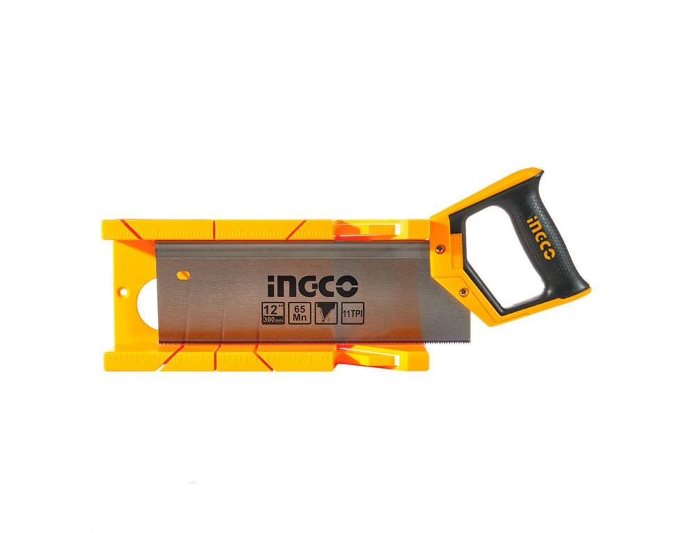 Ножівка пасовочна з пластиковим стуслом 300 мм INGCO