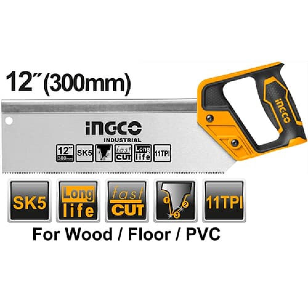 Купить Ножівка пасовочна 300 мм SK5 INGCO