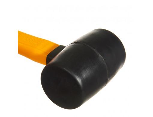 Киянка гумова 220 г чорна, фіберглас INGCO