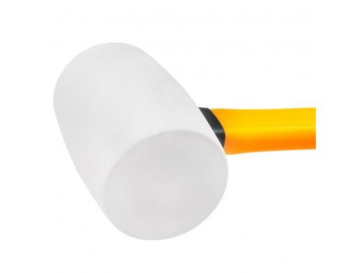 Киянка гумова 220 г біла, фіберглас INGCO