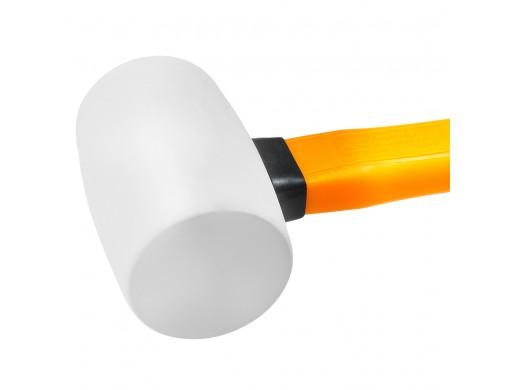 Киянка гумова 450 г біла, фіберглас INGCO