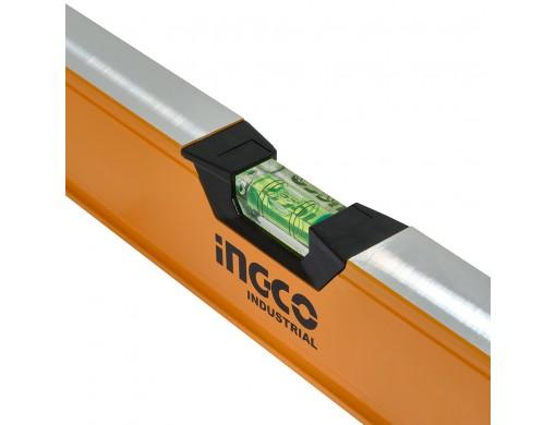 Рівень 120 см 3 капсули алюмінієва рамка 1,5 мм INGCO INDUSTRIAL