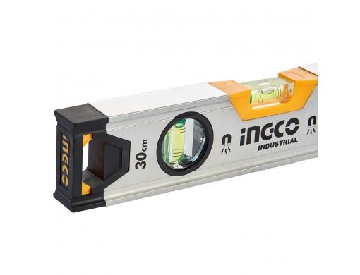 Рівень 30 см 3 капсули алюмінієва рамка 1,5 мм з магнітами INGCO INDUSTRIAL