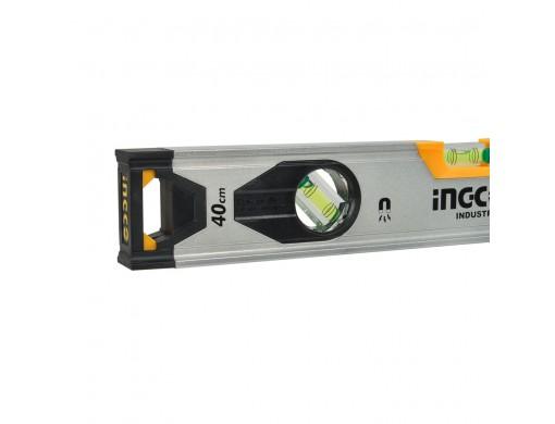 Рівень 40 см 3 капсули алюмінієва рамка 1,5 мм з магнітами INGCO INDUSTRIAL