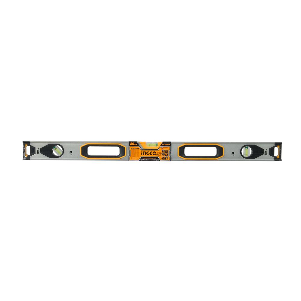 Купить Рівень 80 см 3 капсули алюмінієва рамка 1,5 мм з магнітами INGCO INDUSTRIAL