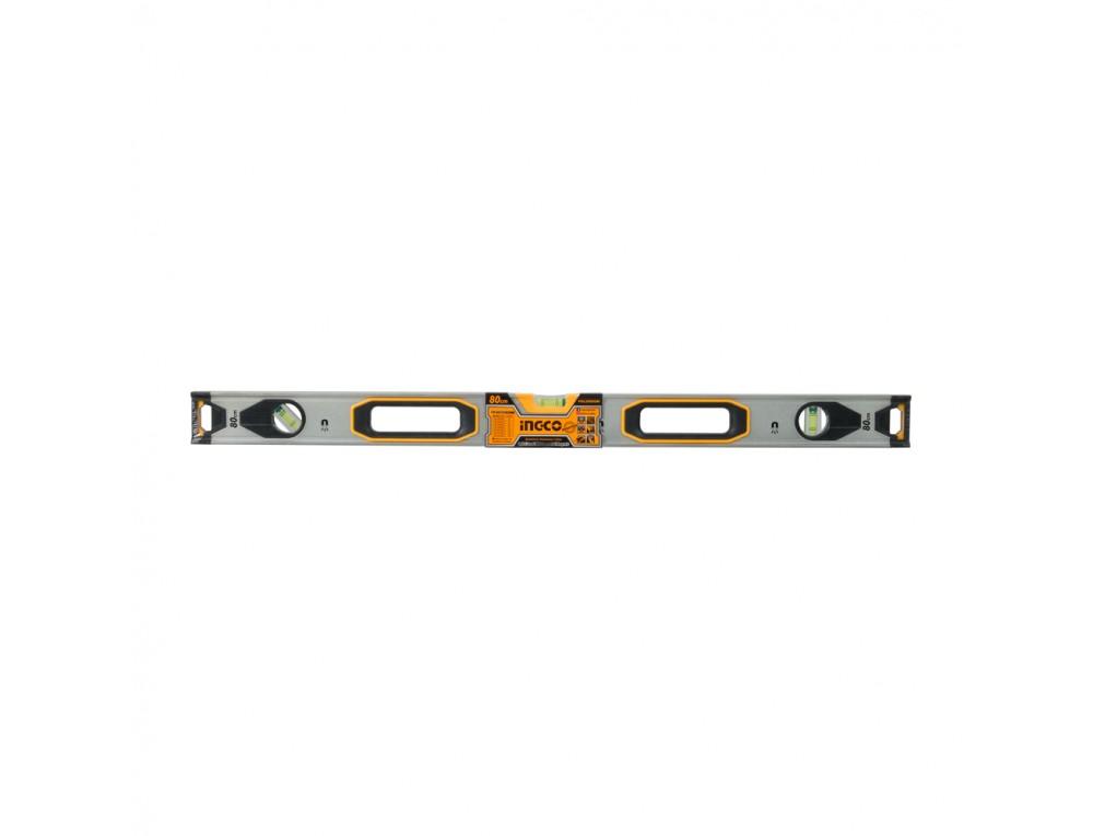 Рівень 80 см 3 капсули алюмінієва рамка 1,5 мм з магнітами INGCO INDUSTRIAL