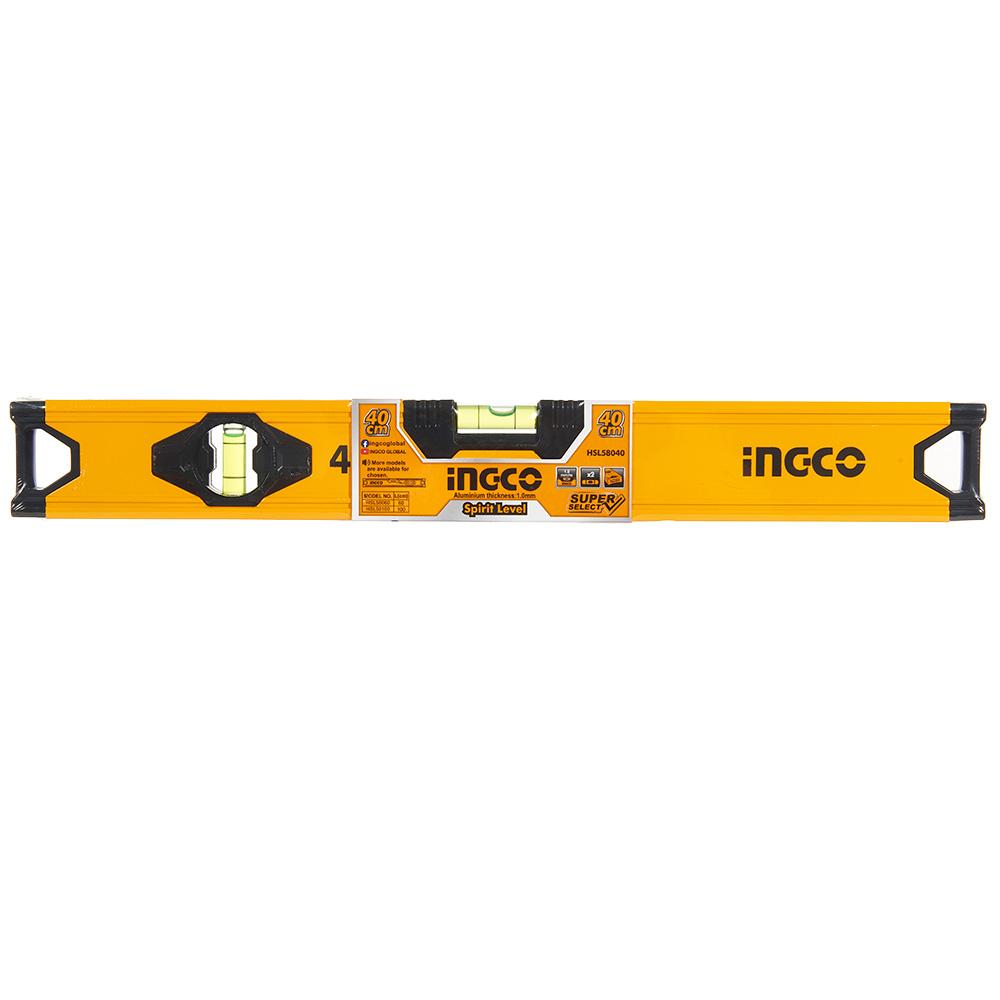 Купить Рівень 40 см алюмінієва рамка 1.0 мм INGCO Super Select
