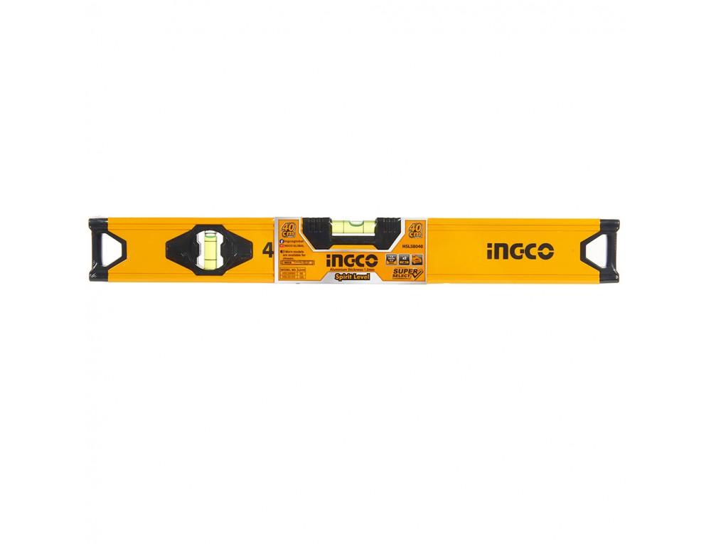 Рівень 40 см алюмінієва рамка 1.0 мм INGCO Super Select