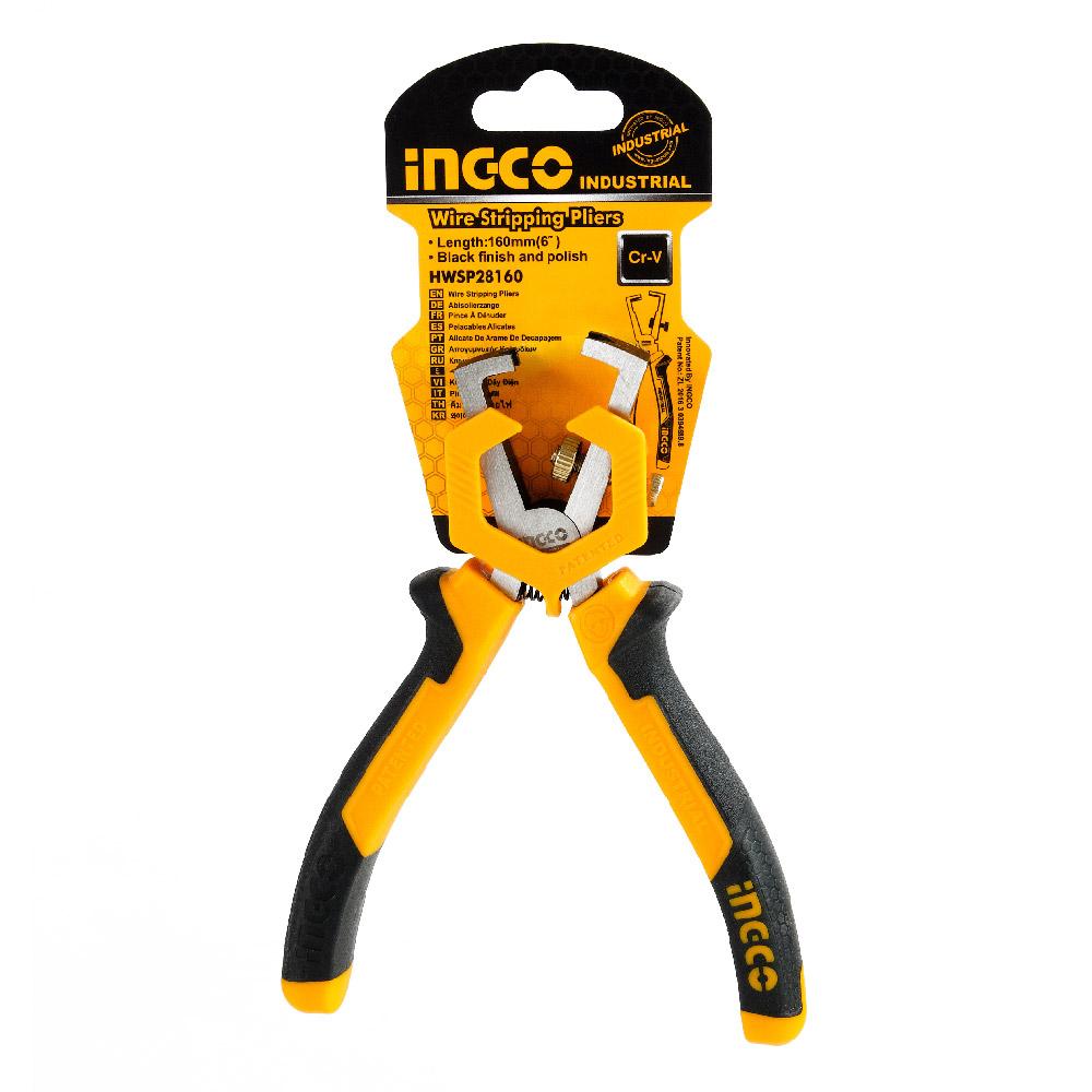 Купить Кліщі для зняття ізоляції 160 мм INGCO