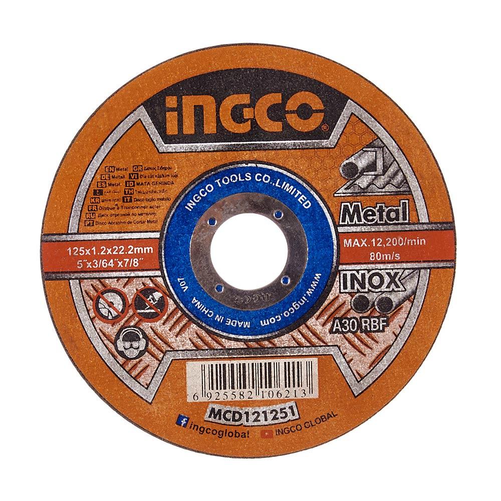 Купить Абразивний відрізний диск по металу 125×1,2×22,2 мм INGCO