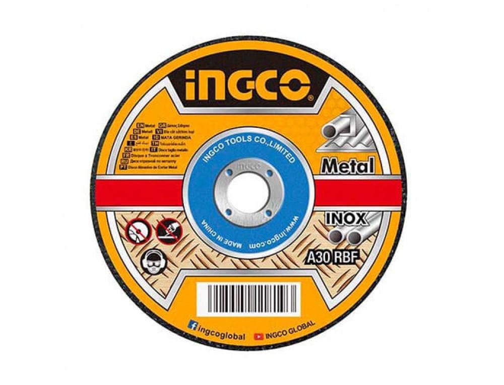 Абразивний відрізний диск по металу 230×1,9×22,2 мм INGCO