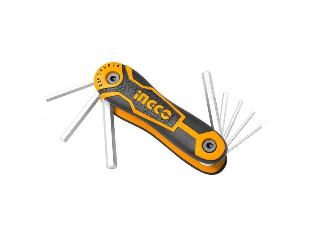 Набір ключів шестигранних 8 шт. 2–8 мм INGCO